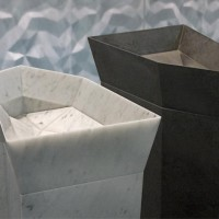 dune 3d tile in carrara marble polished