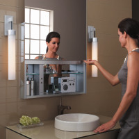 Bathroom Interior : Uplift Sliding Door Cabinetry by Robern