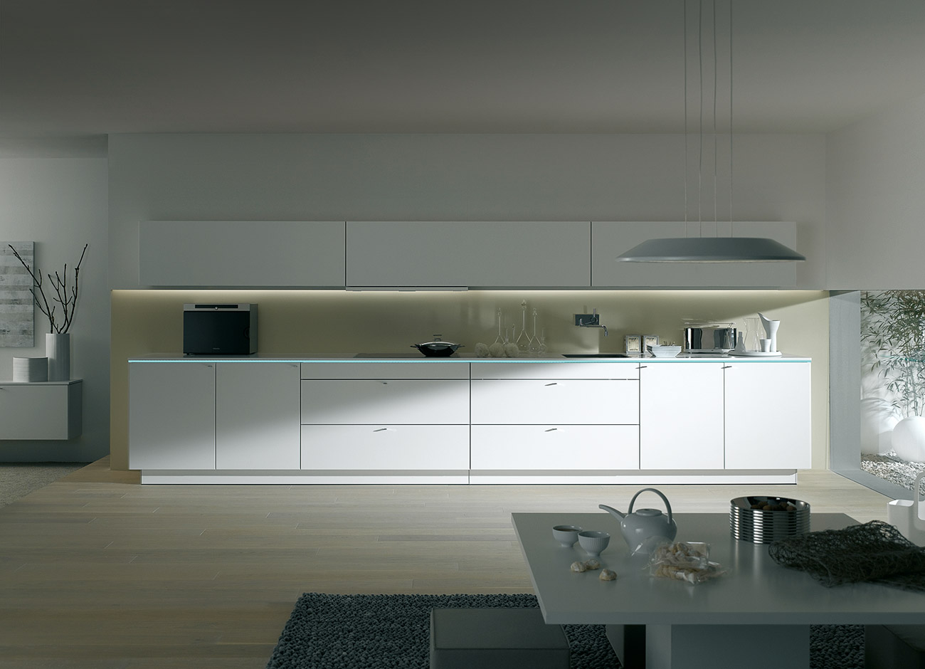 Pure White Modern Kitchen Design StyleHomesnet