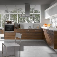 Walnut Compact Kitchen Design