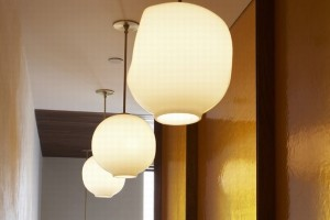 Suspended Lighting Bubble Pendent White