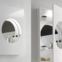 Bathroom Illuminated Mirror Cabinet by Hastings