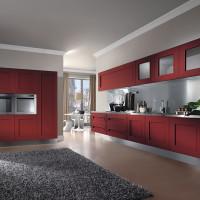 Dramatic Red Melograno Kitchen Design 03