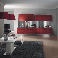 Dramatic Red Melograno Kitchen Design 05