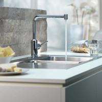 Telescopic Kitchen Pull Out Faucet by Kludi