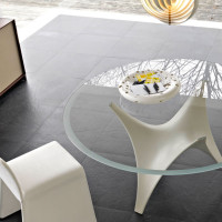 Modern Round Glass Dining Table Molteni Arc-03