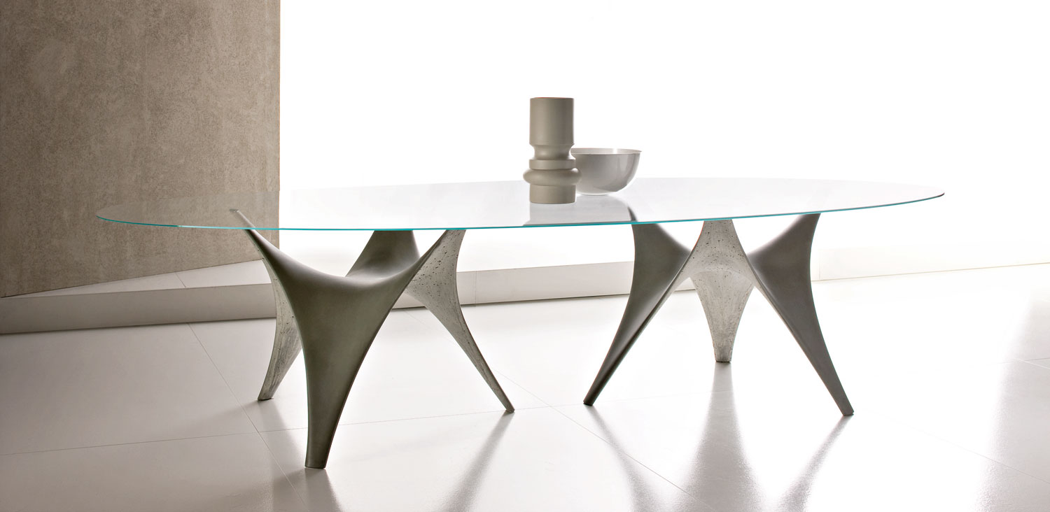 Round Glass Dining Table By Molteni Modern Round Glass Dining Table