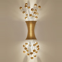 ... Sconce Lighting In 24ct Yellow Gold Leaf Finish By Boyd Lighting