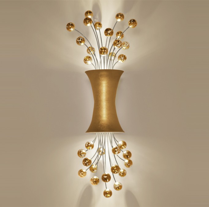 sconce lighting 24ct yellow gold leaf boyd