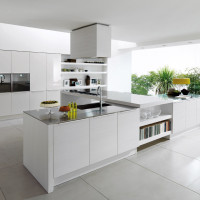 Alineal White Kitchen Design - Euromobil