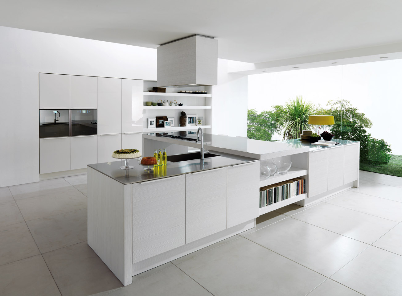 Home » kitchen designs from euromobil » alineal white kitchen design