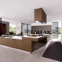 Assim Brown Kitchen Design - Euromobil
