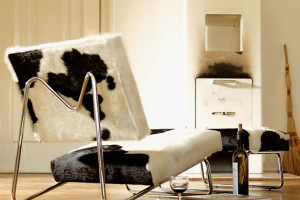 cowhide lounge chair herbert hirche