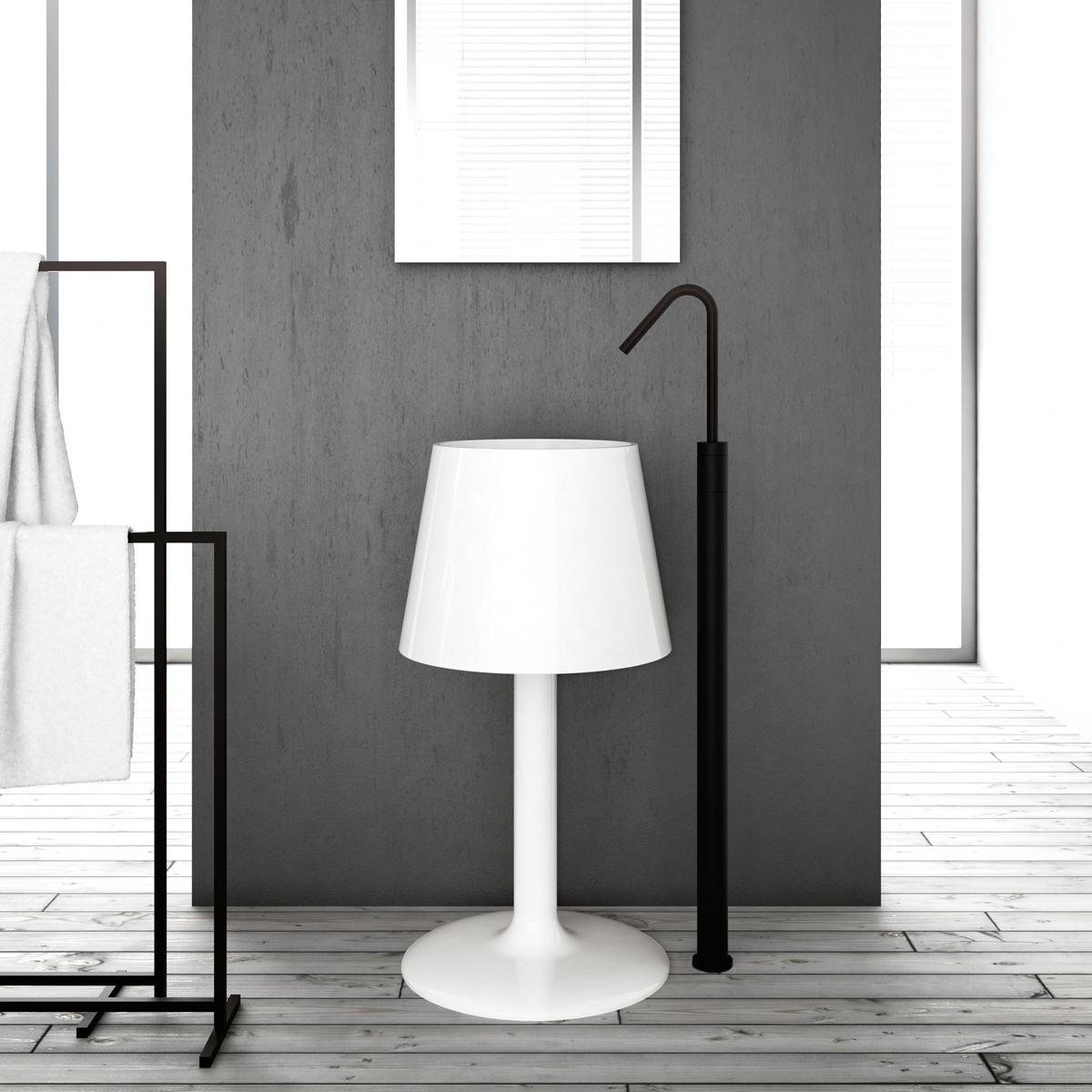 lamp shaped washbasin light artceram