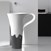 onda decor antracite basin cup