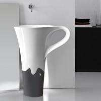 onda decor antracite basin cup