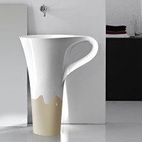 onda decor sand basin cup