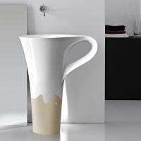 onda decor sand basin cup