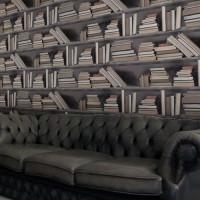 vintage bookshelf wallpaper mineheart