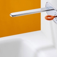 wall mounted handle mixture for washbasin ring strubinetterie