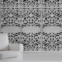 white cast metal gate wallpaper mineheart