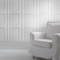 white panelling wallpaper mineheart