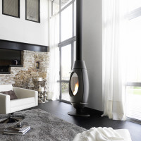 Elegantly Shaped Fireplace with Extraordinary Performance