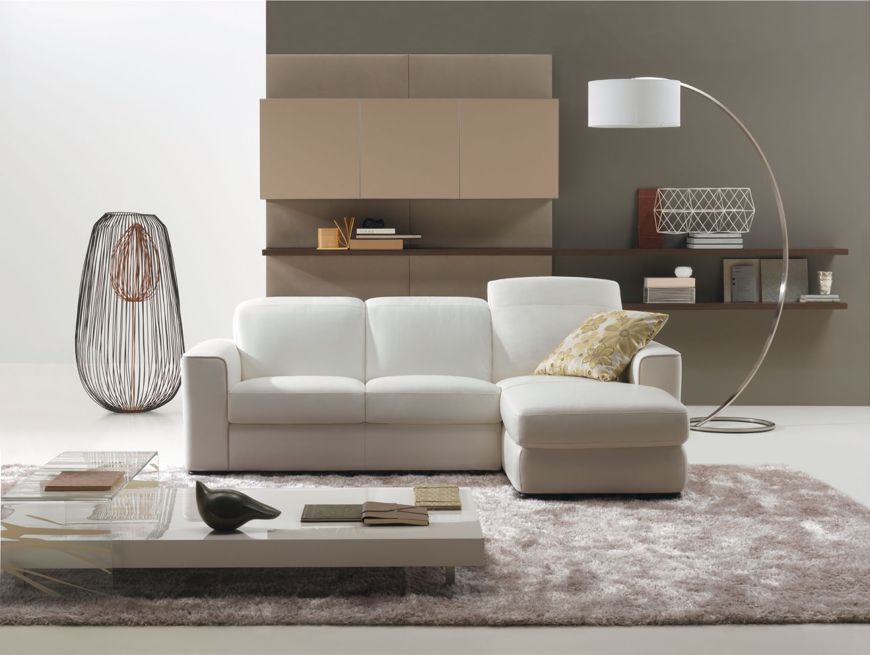 Living Room with Mal three seater Sofa Design StyleHomes