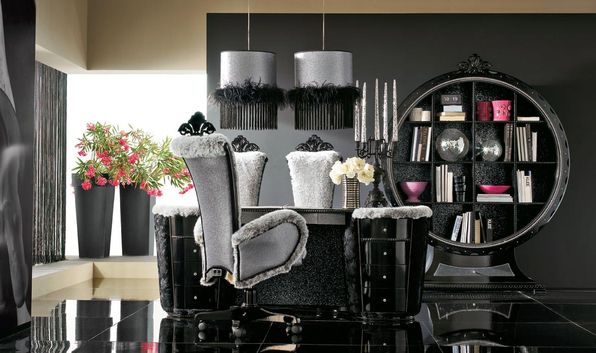 Luxurious Black And Grey House Interior
