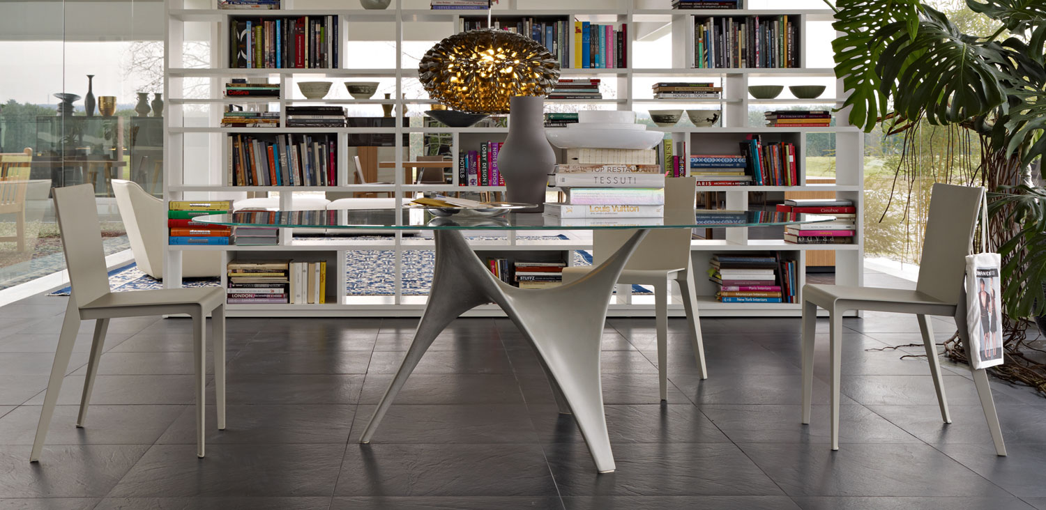Modern Round Glass Dining Table Molteni Arc Stylehomes Interiors Inside Ideas Interiors design about Everything [magnanprojects.com]